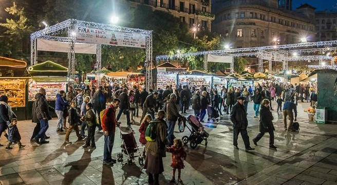 Christmas market in Barcelona in 2019